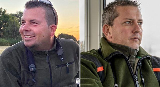 Boswachters Thomas van der Es en Harm Blom