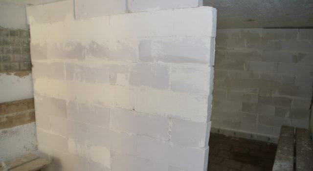 gipsblokken muurtjes in bunkers