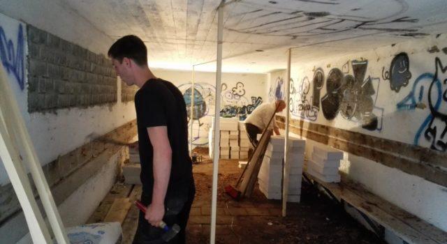 werkzaamheden in vleermuisbunker