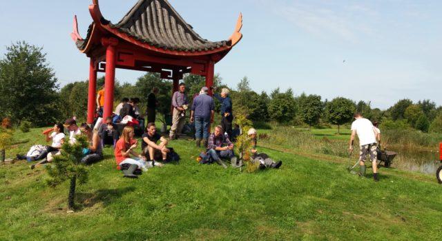 Vrijwilligers SIW en Arboretum Assen