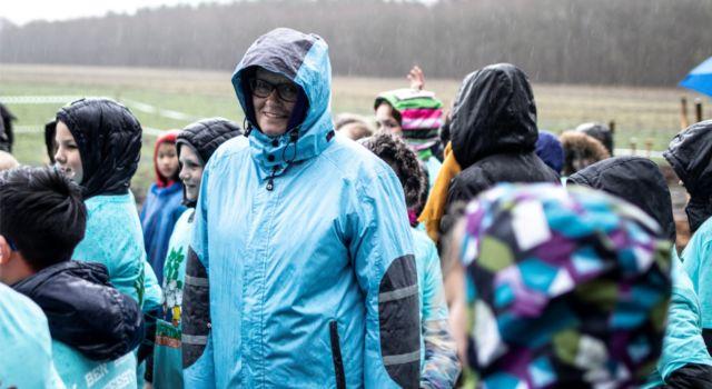 Het weer was bar en boos maar de sfeer opperbest (foto: gemeente Coevorden)