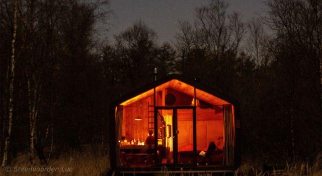 De Cabiner 's nachts (foto: Steenvoorden Luc)