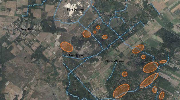 Overzichtskaart met locaties waar werkzaamheden plaatsvinden.