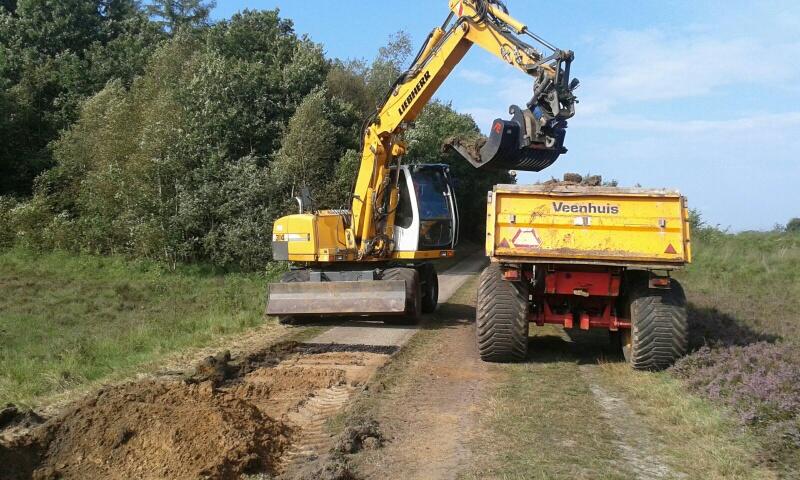 Verwijderen van de oude asfaltlaag