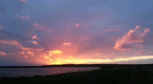 Lauwersmeer, zonsondergang