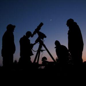 sterren kijken met studenten van het Kapteijn Instituut van de RUG (foto: Jan Koeman)
