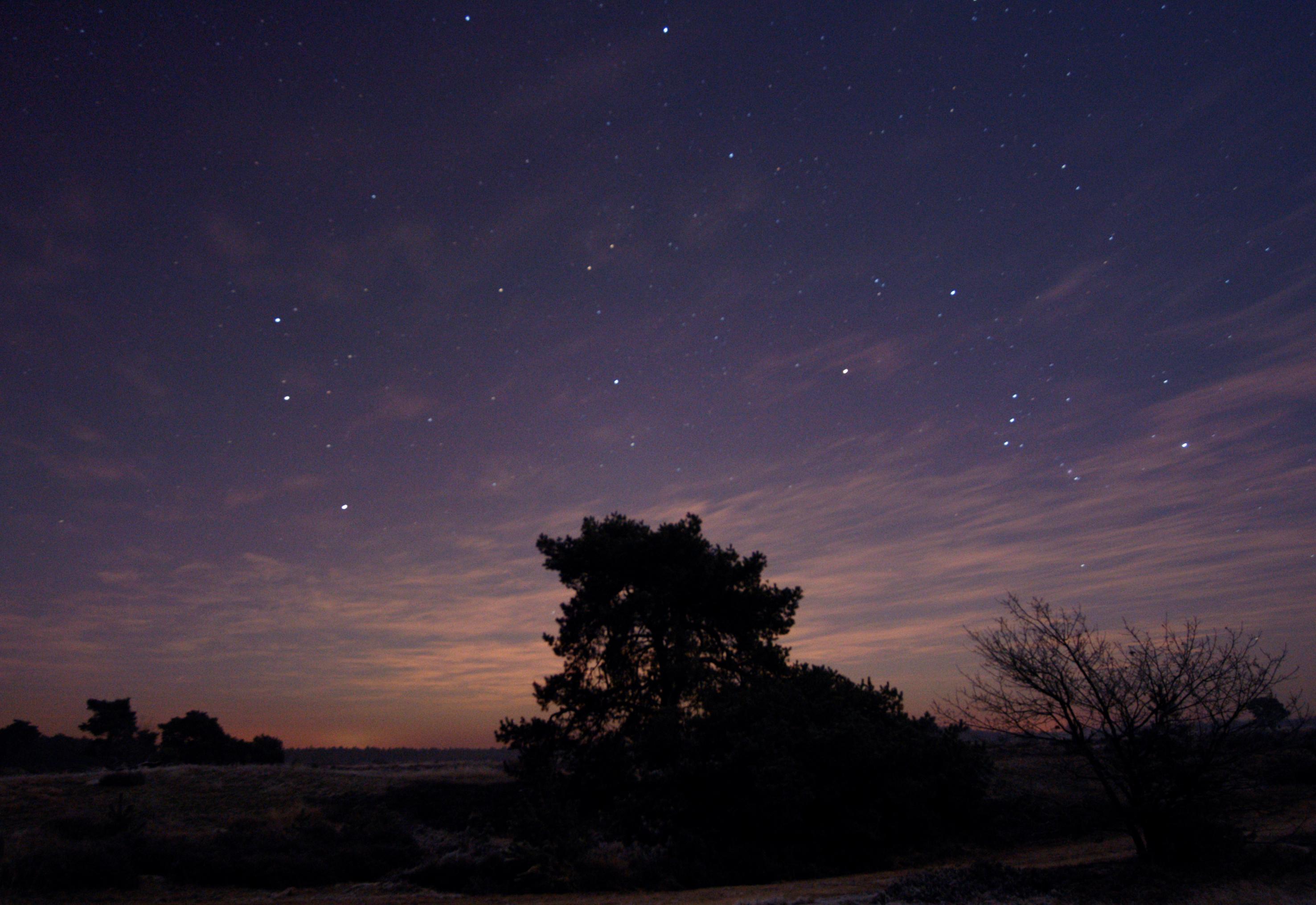 sterren boven heide, foto van Jap Smits
