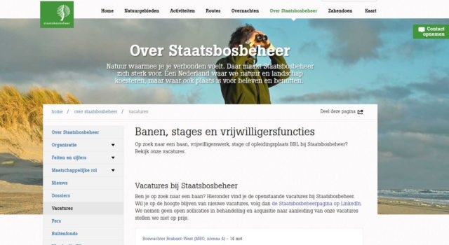vacature boswachter