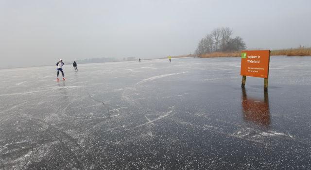 Schaatsen in Waterland.