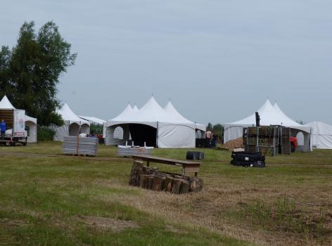 opbouw voor Dutch bird fair