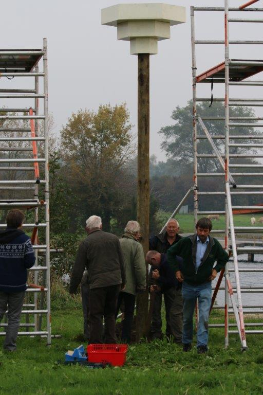 Donderdaggroep aan de slag (Foto: Vogelwerkgroep IJsselstreek)