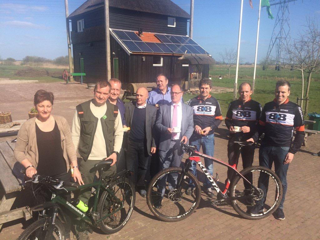 Samenwerken met moutainbikers in Staphorst (1)