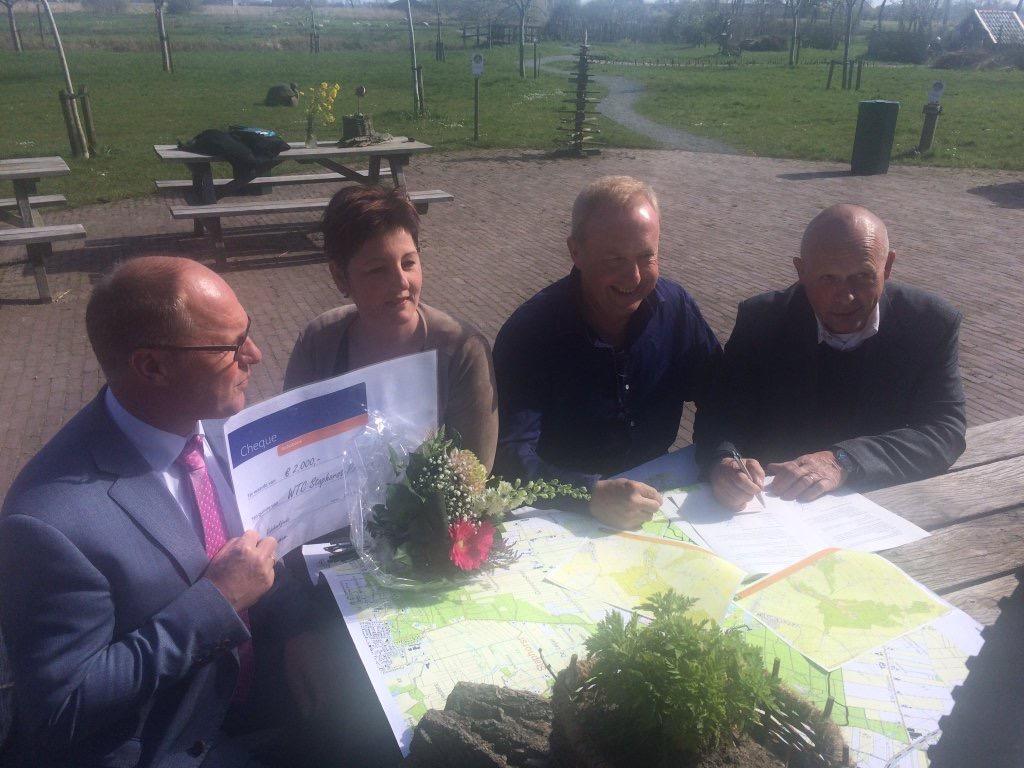 Samenwerken met moutainbikers in Staphorst (2)