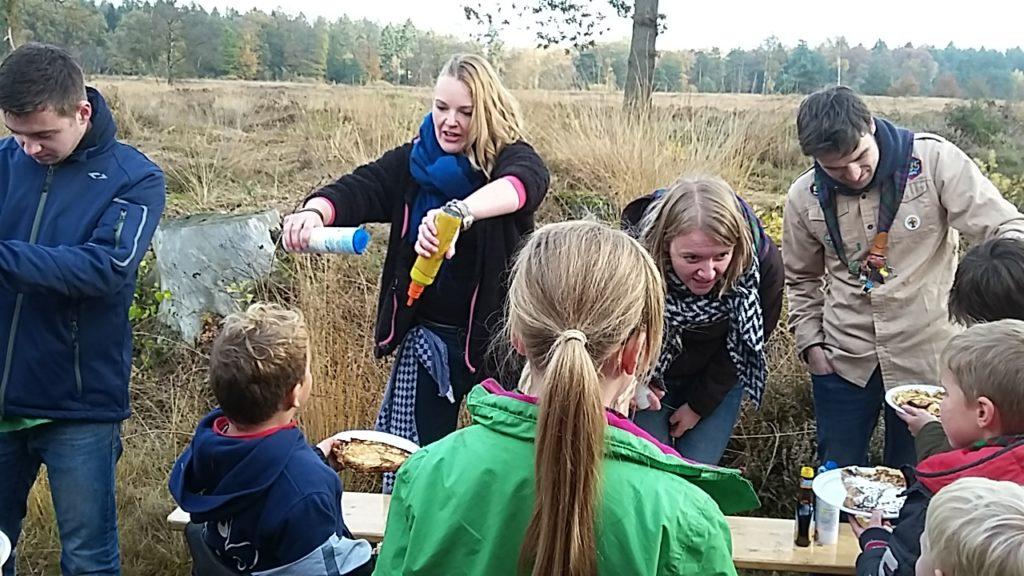 pannenkoeken op de natuurwerkdag