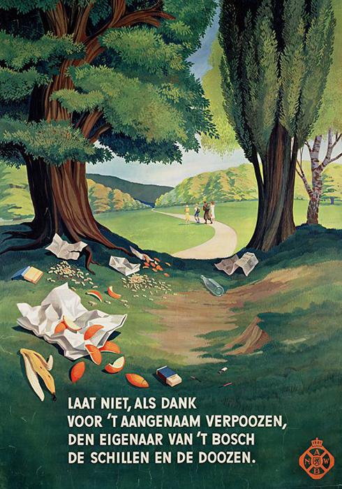 Oud ANWB-affiche 'Laat niet als dank'
