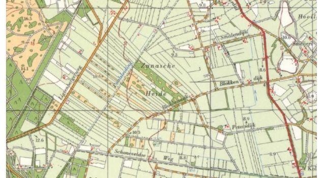 Situatie Zunasche Heide 1970