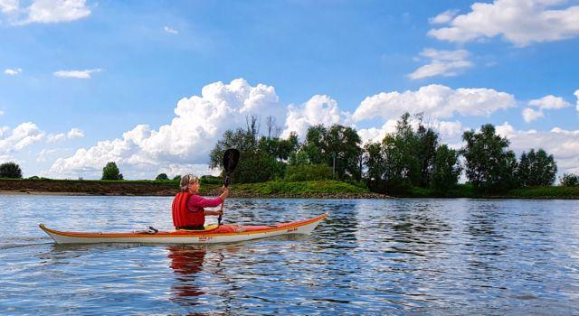 Kanoën op de IJssel