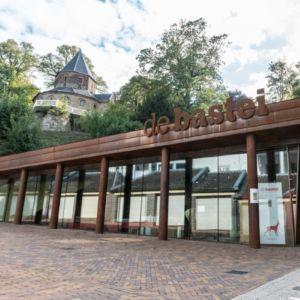 Ingang informatiecentrum van Staatsbosbeheer in De Bastei in Nijmegen.