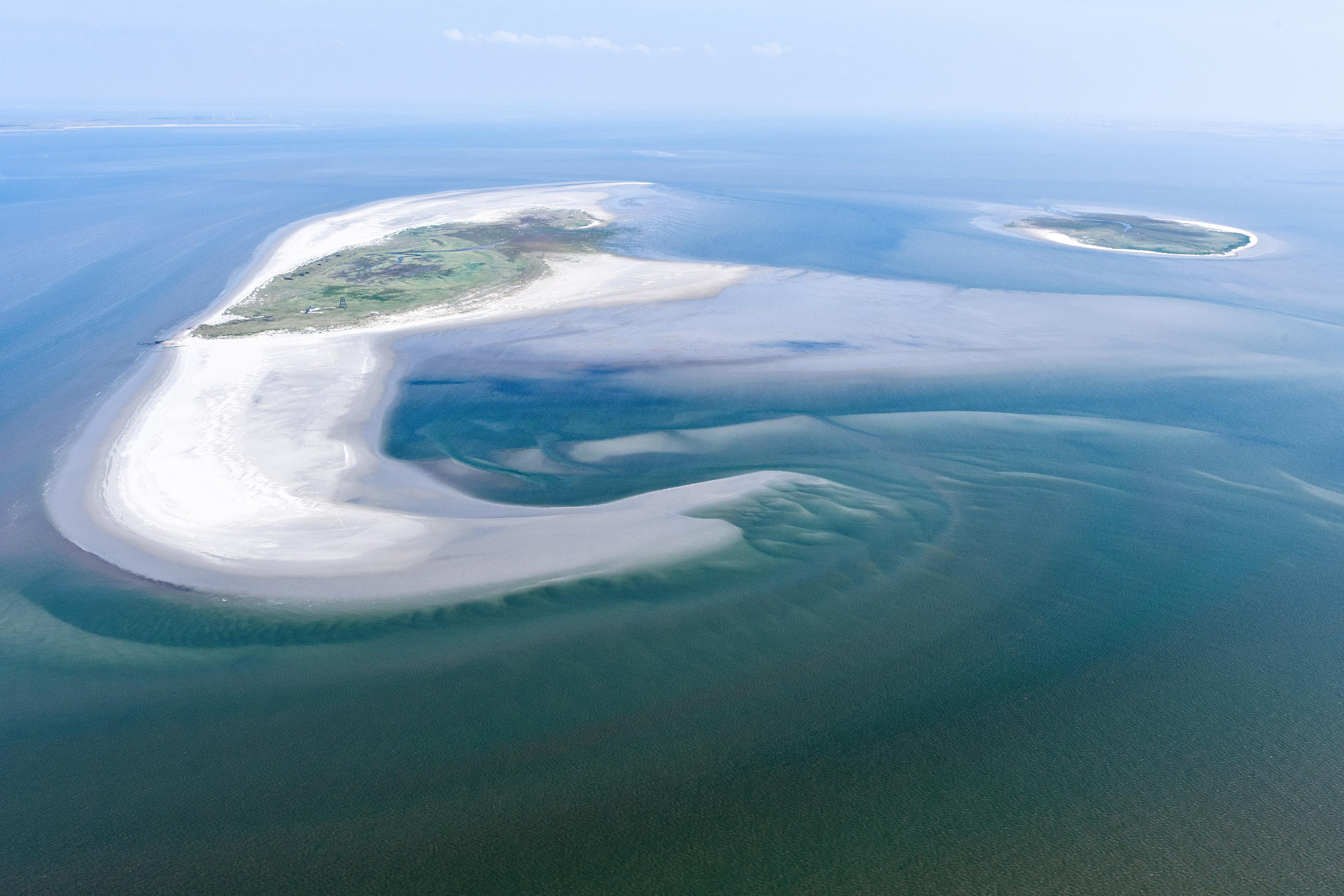 Nabije omgeving van Rottumeroog. Foto: Joop van Houdt, Rijkswaterstaat
