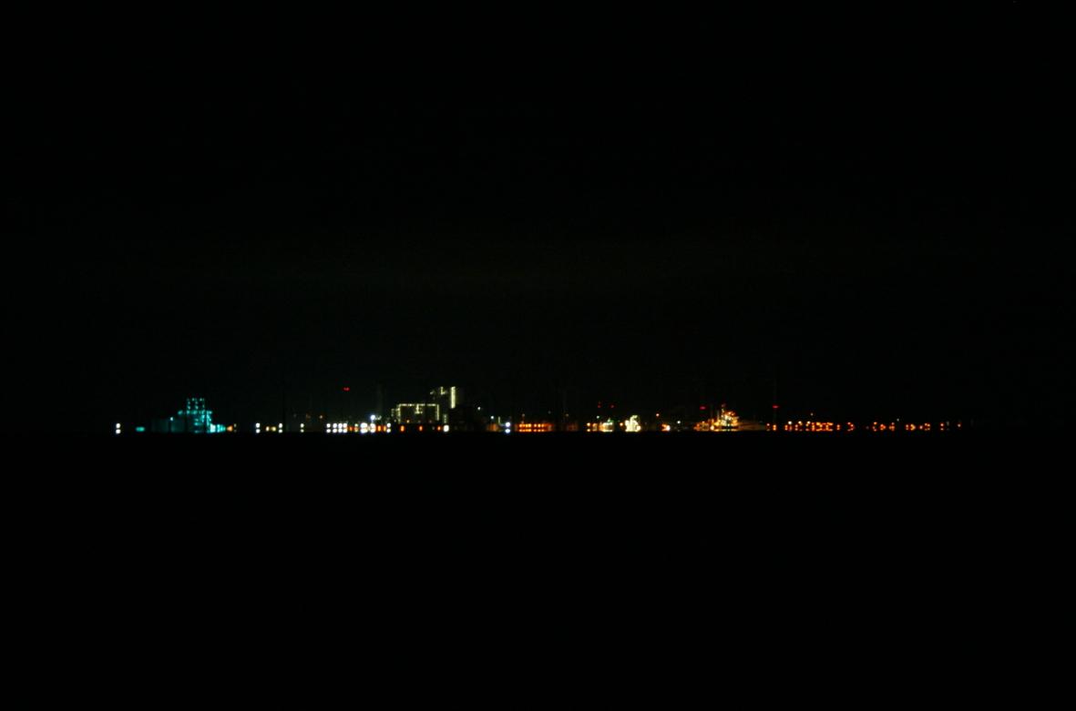De Eemshaven s'nachts