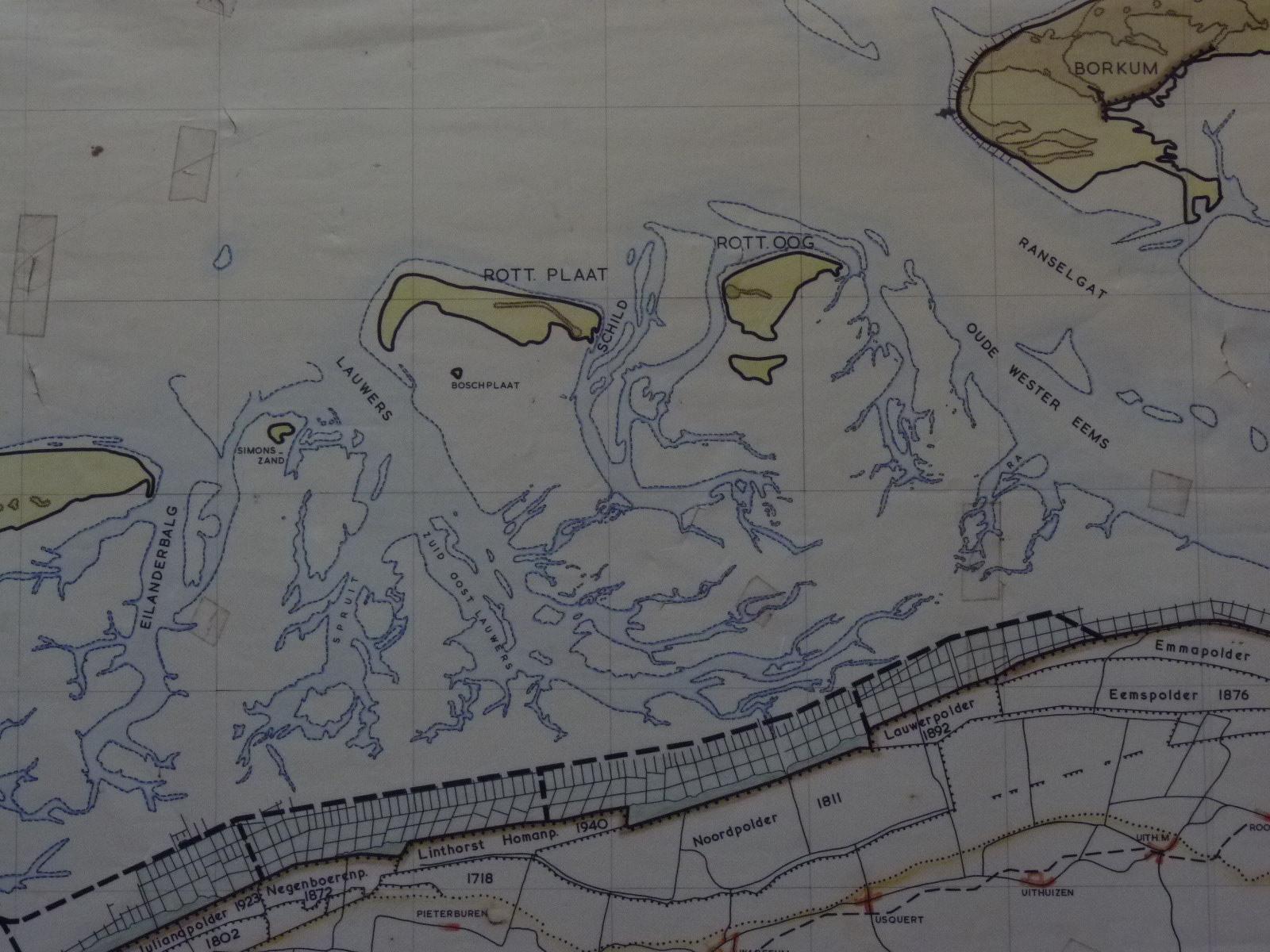 kaart uit 1961