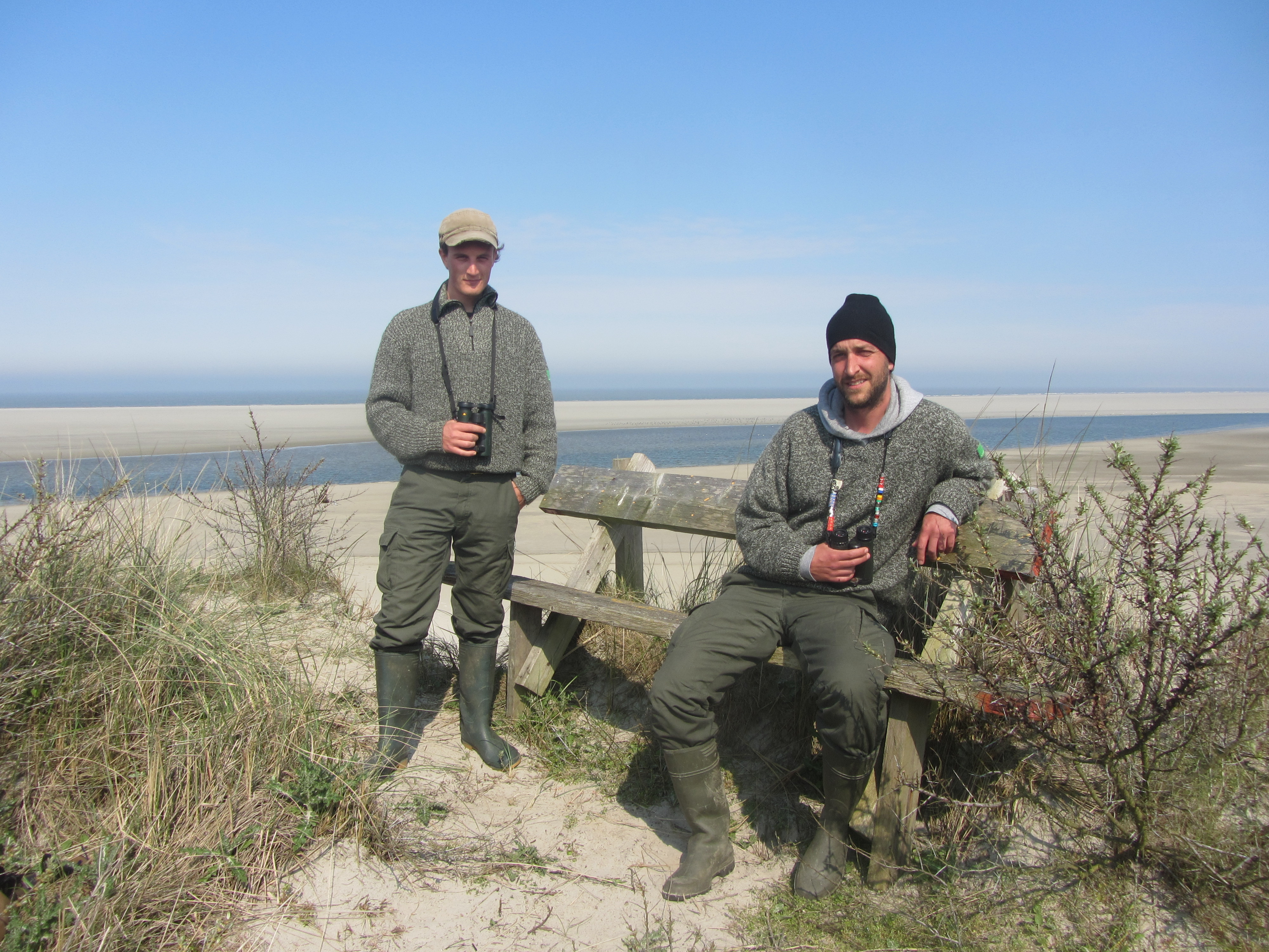 Vogelwachters Tim en Jasper