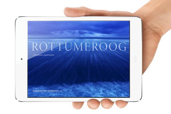 iPad versie van National Geographic over Rottumeroog, mei 2014