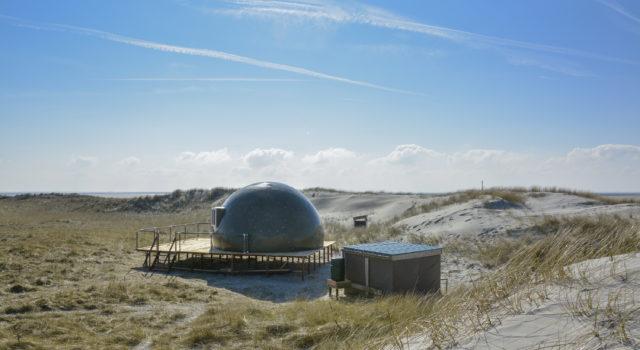 De vogelwachter-iglo op Rottumeroog. Foto: Henk Postma