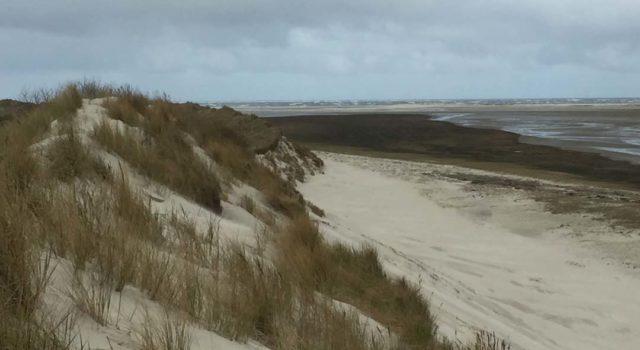 De Noordkant van de stuifdijk.