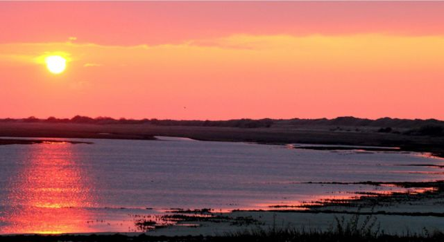 zonsondergang Zuidkwelder Rottumerplaat