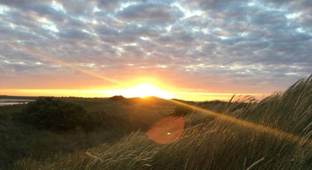 Eén van de 113 zonsondergangen die we meemaakten op Rottumerplaat.