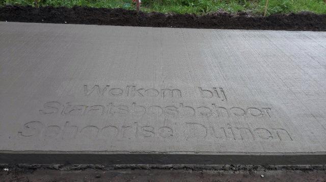 Welkomstekst bij de Buitenlevenwoning aan de Lovinkslaan.