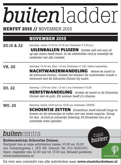 Buitenladder November 2015