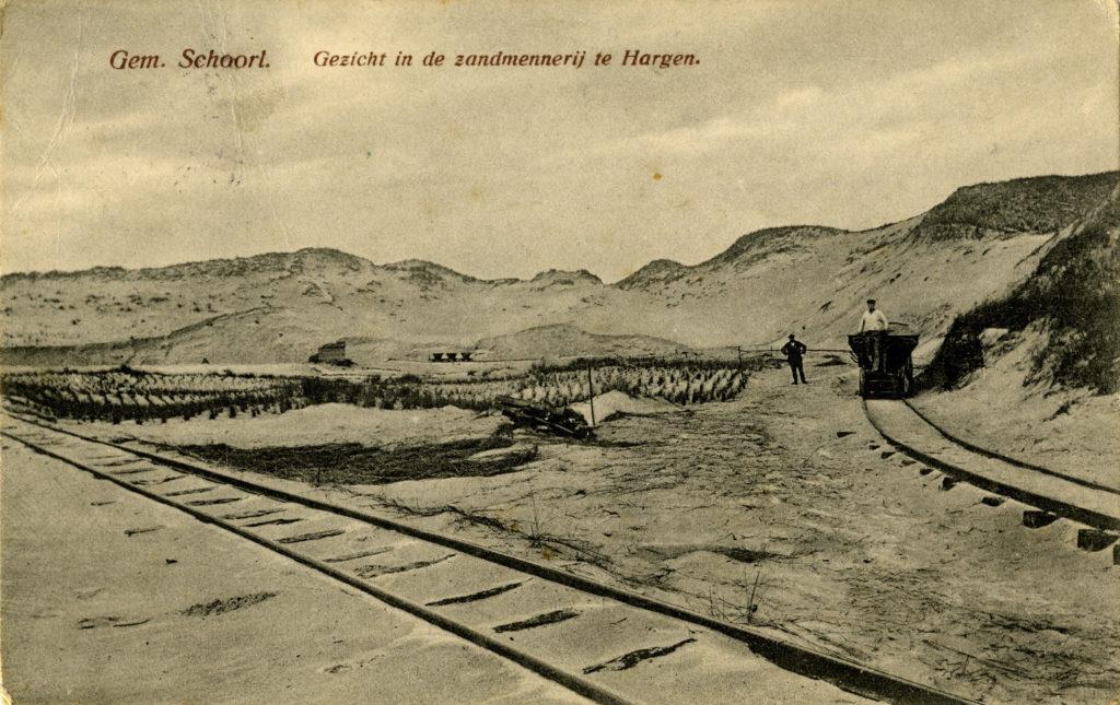 Historische beelden van de zandmennerij bij Hargen