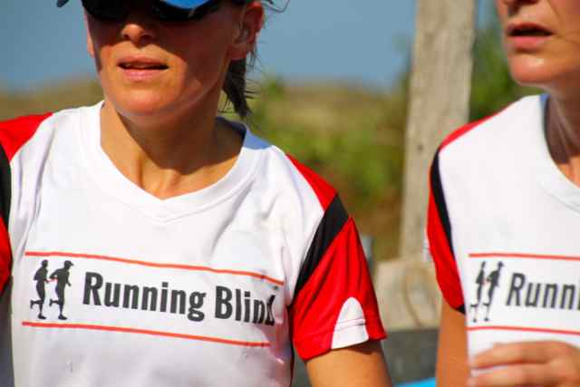 Texel Halve Marthon Running Blind