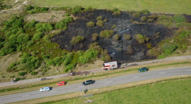 De brand in 2010 maakte de oude akkertjes goed zichtbaar. Foto's (c) Ton Zegers