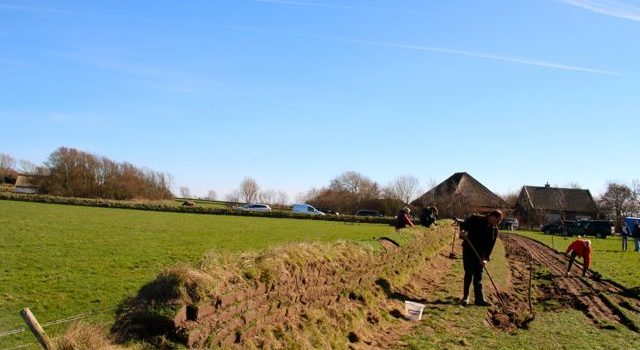 tuinwal, Hoge Berg, Texel