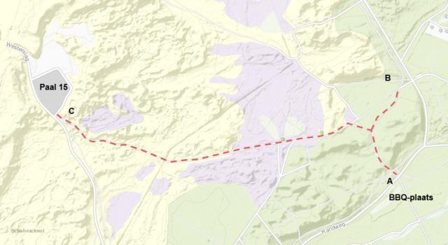 Fietspad tussen Randweg en paal 15 afgesloten in verband met veiligheid