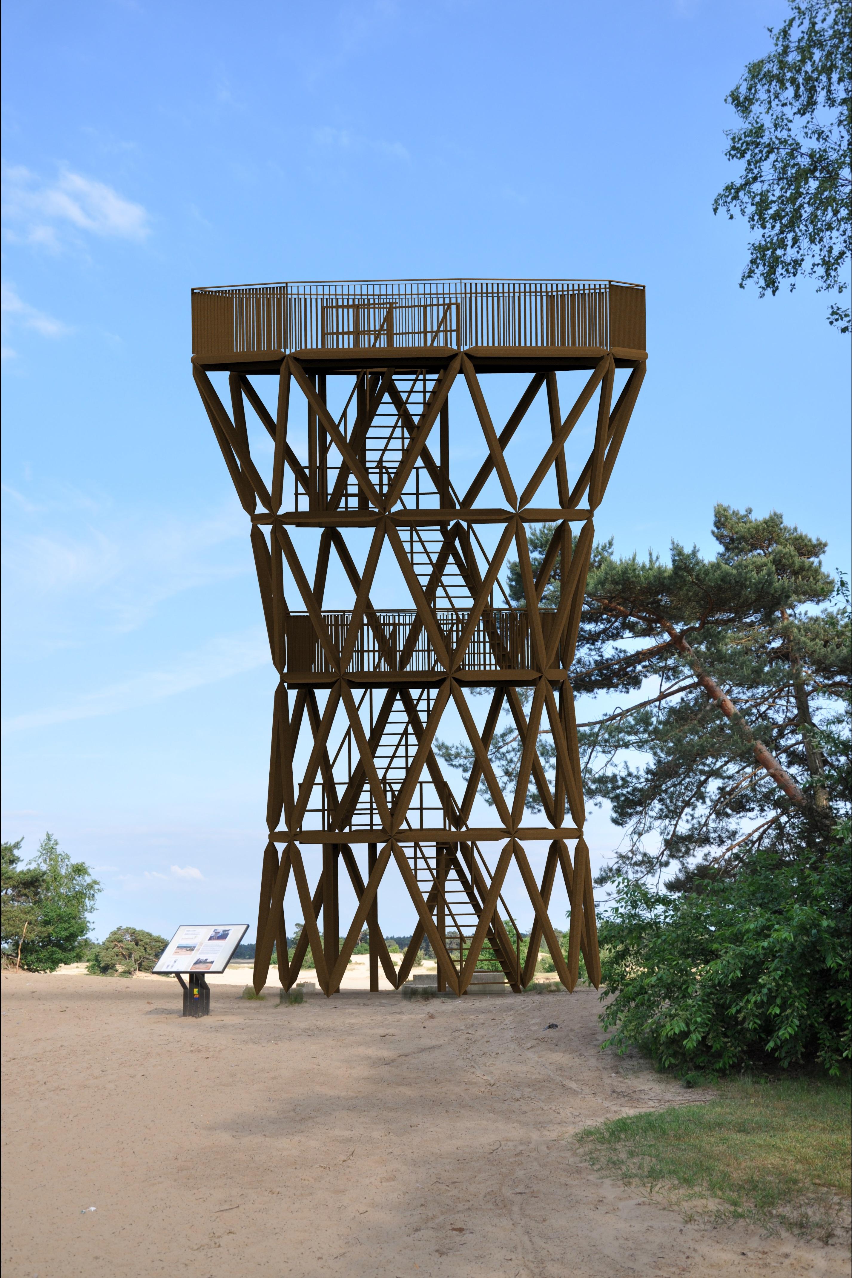 Nieuwe uitkijktoren kootwijkerzand bijgesneden