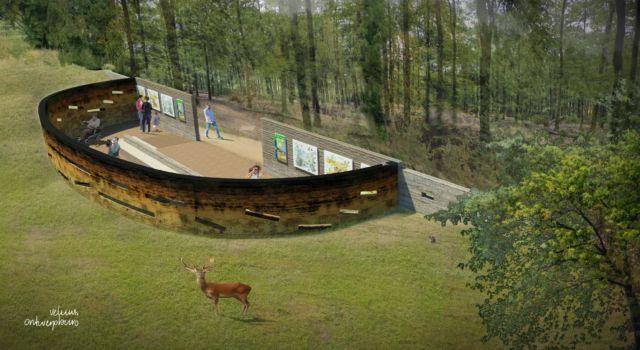 Impressie van de nieuwe wildobservatieplaatse bij Hoog Buurlo