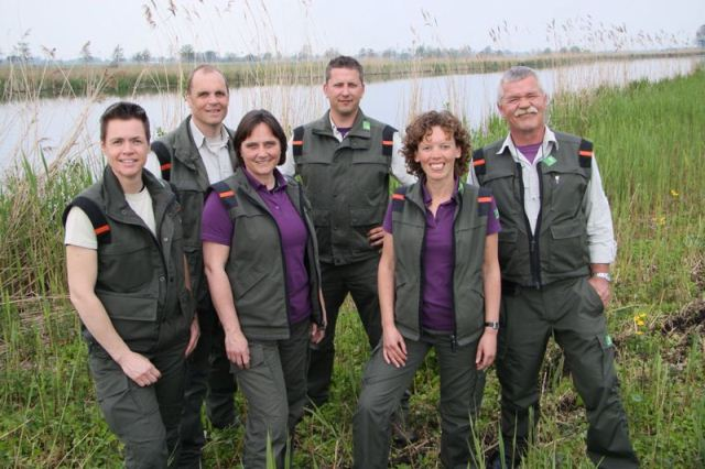 Boswachters Zuid-Holland, v.l.n.r. Yvonne v.d. Meer, Mark Kras, Linda Groenevel, Harm Blom, Jenny van Leeuwen, Wicher Pen