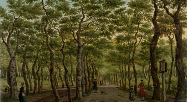 Herepad in Haagse Bos (1778) door Paulus Constatijn la Fargue (schilderij in bezit van het Rijksmuseum)
