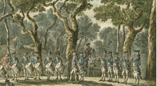Tambours op de Bloedberg in het Haagse Bos