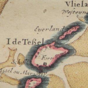 Oude kaart Texel